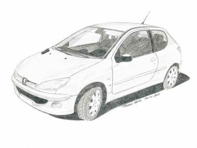 Pr sentation de la 206 juillet 2004 peugeot 206 iceland - Dessin voiture profil ...